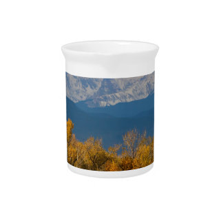 Colorful Trees and Majestic Mountain Peaks Pitcher