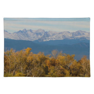 Colorful Trees and Majestic Mountain Peaks Placemat