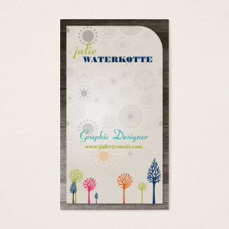 Colorful Trees Graphic Design Business Cards