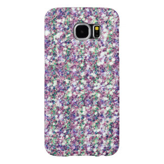 Colorful Trendy Glitter Texture Print Samsung Galaxy S6 Cases