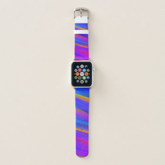 Colorful Trendy Rainbow Wavy Stripes Apple Watch Band