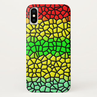 colorful trendy  stained glass iPhone x case