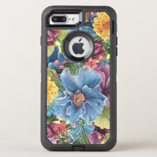 Colorful Trendy Watercolors Flowers Collage OtterBox Defender iPhone 8 Plus/7 Plus Case
