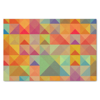 Colorful Triangle Geometric Pattern Tissue Paper