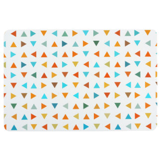 Colorful Triangle Pattern Floor Mat