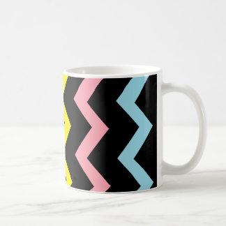 Colorful Triangle Waves Basic White Mug