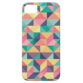 colorful triangles and cubes red green yellow blue iPhone 5 cover