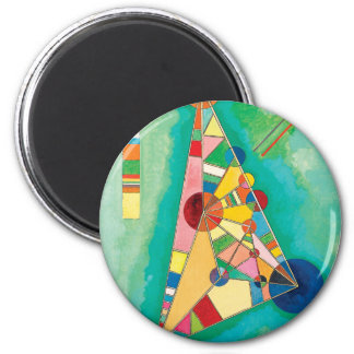 Colorful Triangles by Wassily Kandinsky Magnet