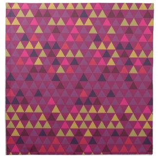 Colorful Triangles Napkin