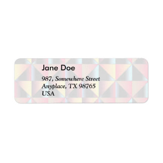 Colorful triangles return address label