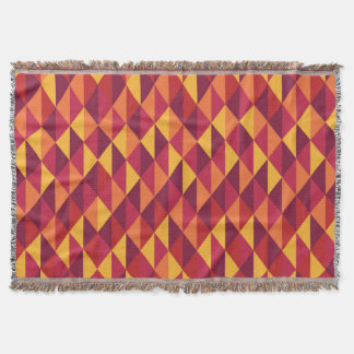 Colorful triangles throw blanket