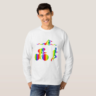 Colorful Triathlon Rainbow Long Sleeve T-Shirt