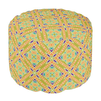 Colorful Tribal Aztec Southwestern Geo Pattern Pouf