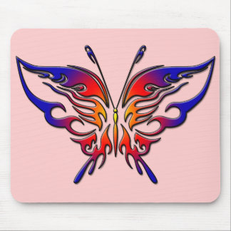 COLORFUL TRIBAL BUTTERFLY MOUSE PAD