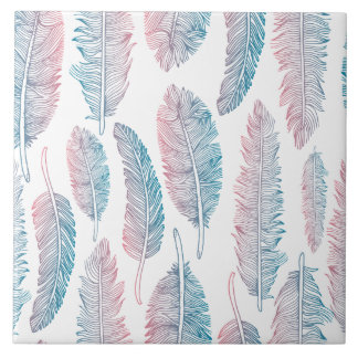 Colorful Tribal Feather Pattern | Ceramic Tiles