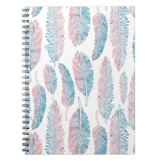 Colorful Tribal Feather Pattern | Notebook