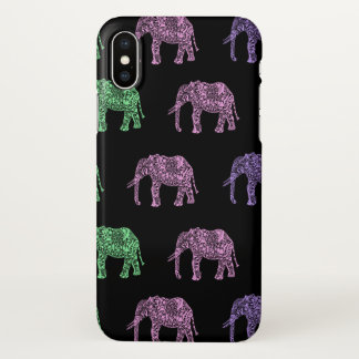 colorful tribal floral boho elephant pattern iPhone x case