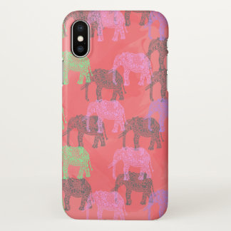 colorful tribal floral elephant pattern iPhone x case