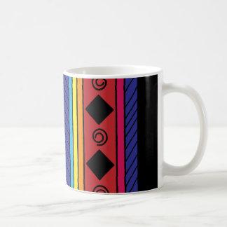 Colorful tribal geometric doodle classic mug
