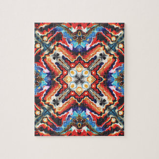 Colorful Tribal Motif Puzzles