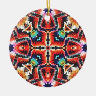 Colorful Tribal Pattern Ceramic Ornament