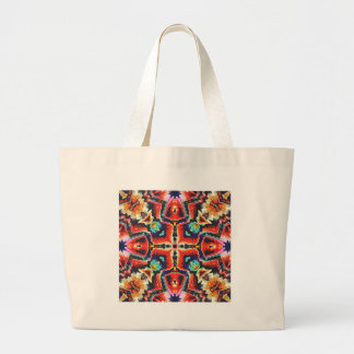 Colorful Tribal Pattern Large Tote Bag