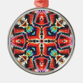 Colorful Tribal Pattern Metal Ornament