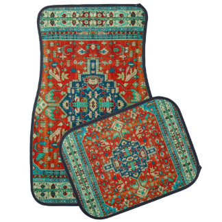 Colorful Tribal Rug Motive