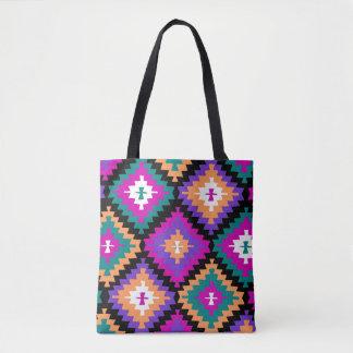 Colorful tribal tote bag