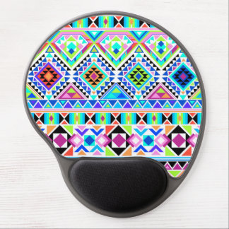 Colorful Tribal Various Geometric Shapes Gel Mouse Pad