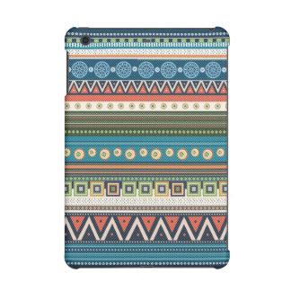 Colorful Tribal Zigzag Cross-Stitch Texture iPad Mini Cover