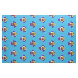 Colorful Tropical Fish Cartoon Kids Fabric