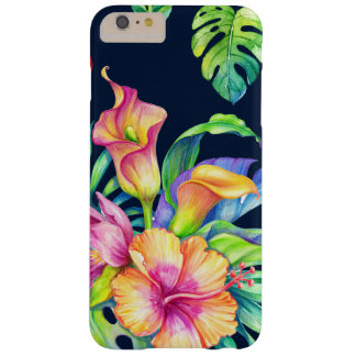 Colorful Tropical Flowers Bouquet Design GR3 Barely There iPhone 6 Plus Case