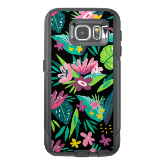 Colorful Tropical Flowers & Leafs Pattern GR3