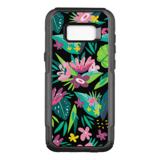 Colorful Tropical Flowers & Leafs Pattern OtterBox Commuter Samsung Galaxy S8+ Case