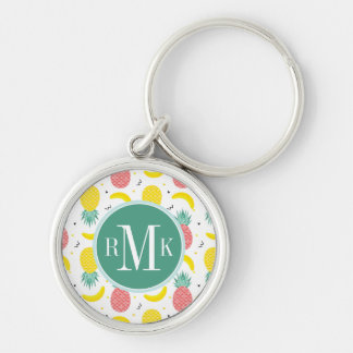 Colorful Tropical Fruit Pattern Key Ring