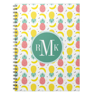 Colorful Tropical Fruit Pattern Notebook