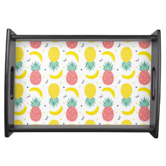 Colorful Tropical Fruit Pattern Serving Tray