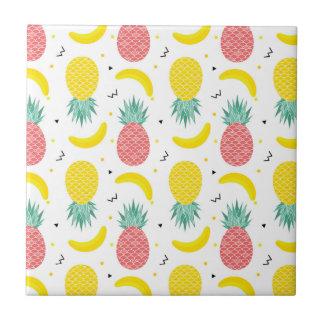 Colorful Tropical Fruit Pattern Tile