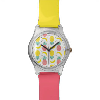Colorful Tropical Fruit Pattern Watch
