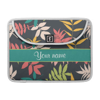 Colorful Tropical Leaves Sleeve For MacBooks