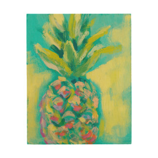 Colorful Tropical Pineapple Wood Wall Decor
