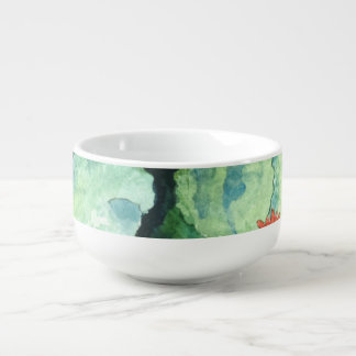 Colorful Tropical Soup Mug - For The Kitchen