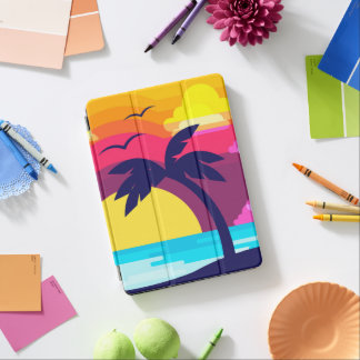 Colorful Tropical Sunset & Palm Tree iPad Air Case