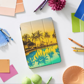 Colorful Tropical Sunset Palm Trees iPad Air Case