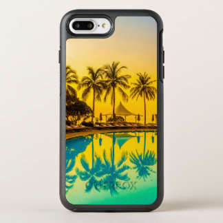 Colorful Tropical Sunset & Palm Trees | Phone Case