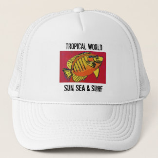 Colorful trpical fish (1517) trucker hat