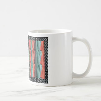 Colorful tshirts color patterns template add TEXT Coffee Mug