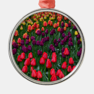 Colorful tulip flower garden christmas tree ornaments