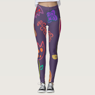 Colorful Tulips and flowers Leggings